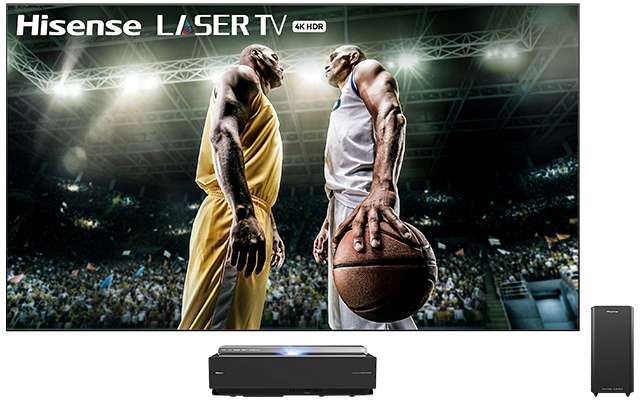 4K UHD Hisense Smart Laser TV with HDR and Wide Color Gamut