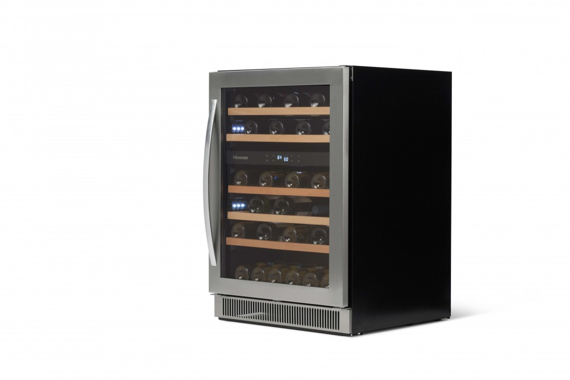 46-bottle Freestanding or Built-in Dual Zone Stainless Steel